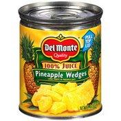 Del Monte 100% Juice Wedges Pineapples