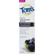 Tom's of Maine Toothpaste, Anticavity, Natural, Activated Charcoal, Peppermint