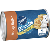 Pillsbury Flaky Layers Southern Homestyle Biscuits, Honey Butter, 5 Count