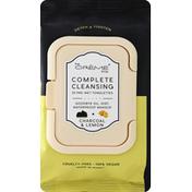 The Crème Shop Pre-Wet Towelettes, Complete Cleansing, Charcoal & Lemon