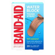 Band-Aid Brand Water Block Tough Adhesive Bandages, All One Size