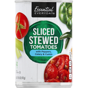 Essential Everyday Tomatoes with Pepper, Celery & Cumin, Stewed, Sliced