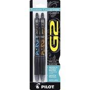 Pilot Gel Roller Pens, Fashion Collection, Fine (0.7 mm), Black Ink