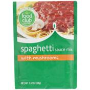 Food Club Spaghetti Sauce Mix With Mushrooms