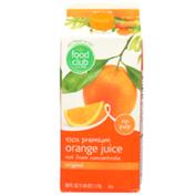 Food Club 100% Original Orange No Pulp Premium Juice