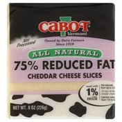 Cabot Cheese Slices, 75% Reduced Fat Cheddar