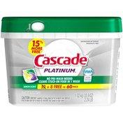 Cascade Platinum ActionPacs Dishwasher Detergent Lemon Burst Dish Care