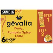 Gevalia Pumpkin Spice Latte Espresso Coffee K Cup Pods & Latte Froth Packets