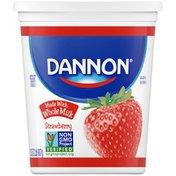 Dannon Whole Milk Non-GMO Project Verified Strawberry Yogurt