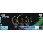 Feit Electric Bulbs, LED, Daylight, Clear, 5.5 Watts