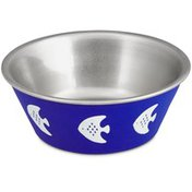 Harmony Blue Fish Stainless Steel Cat Bowl 1 Cup