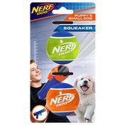 """Nerf 2"""" Tpr Squeak Ten Ball Dog Toy"""