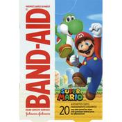 Band-Aid Adhesive Bandages, Super Mario, Assorted Sizes