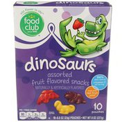 Food Club Assorted Fruit Flavored Dinosaurs Snacks