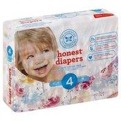 The Honest Company Diapers, 4 (22-37 Pounds), Rose Blossom