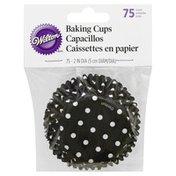 Wilton Baking Cups, Black Dots, Standard