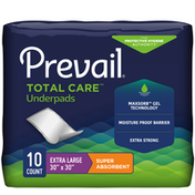 """Prevail Incontinence Underpads, Super Absorbent, 30"""" X 30"""""""