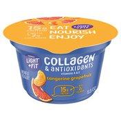 Light + Fit Nonfat Tangerine Grapefruit Icelandic Style Yogurt with Collagen & Antioxidants