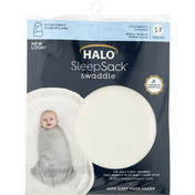 Halo Swaddle, Small, Cream Fleece, 3 to 6 Months