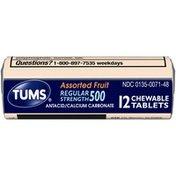 Tums Regular Strength 500 Assorted Fruit Chewable Tablets Antacid