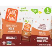 Good Karma Milk Alternative, Plant-Based, Chocolate, 6 Pack