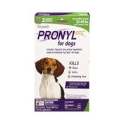 Sergeant's Pronyl Otc for Dogs Only 23-44 lbs Over 8 Weeks of Age Kills Fleas, Ticks, and Chewing Lice Applicators- 3 CT