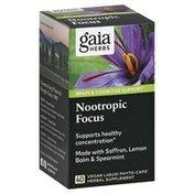 Gaia Herbs Nootropic Focus, Vegan Liquid Phyto-Caps