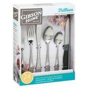 Gibson Home Flatware Set, Trillium, 24 Piece