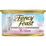 Purely Fancy Feast Tender Ocean White Fish Feast Kitten