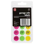 Z Labels, Garage Sale, Asst. Neon