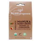 Wedderspoon Organic Manuka Honey Drops, Fennel Cinnamon