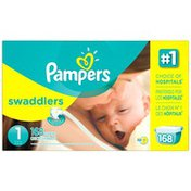 Pampers Swaddlers Economy Pack Size 1 Diapers