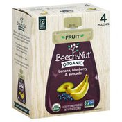Beech-Nut Banana, Blueberry & Avocado, Organic, Stage 2 (from About 6 Months), 4 Pouches