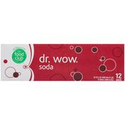 Food Club Soda, Dr. Wow, 12 Pack