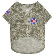 Pets First Small MLB Chicago Cubs Camo Dog Jersey