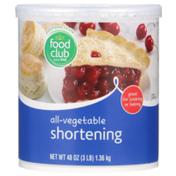 Food Club All-Vegetable Shortening