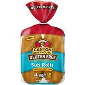Canyon Bakehouse Gluten Free 100% Whole Grain Sub Rolls