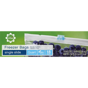 Safeway Freezer Bags, Single Slide, Quart