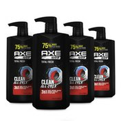 Axe 3-In-1 Body Wash Shampoo & Conditioner Wash & Care Total Fresh