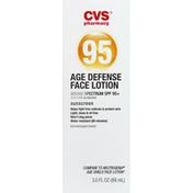 CVS Pharmacy Face Lotion, Age Defense, SPF 95+