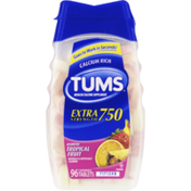 Tums Extra Strength 750 Assorted Tropical Fruit Antacid/Calcium Supplement Chewable Tablets - 96 CT