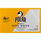 Polar Tonic Water, Premium, Traditional, Bar Size Slim Cans