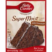 Betty Crocker Cake Mix, Super Moist, Milk Chocolate
