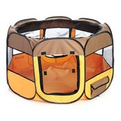 Petzlife Large All-Terrain Lightweight Easy Folding Wire-Framed Collapsible Travel Pet Playpen
