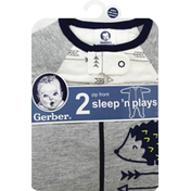 Gerber Sleep 'N Plays, Zip Front, Newborn