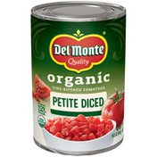 Del Monte Organic Vine-Ripened Petite Diced Tomatoes
