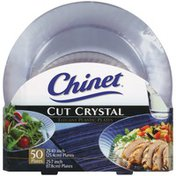 "Cut Crystal 25-10""/25-7"" Elegant 25-10""/25-7"" Elegant Plastic Plates"