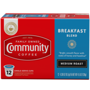 Community Coffee Breakfast Blend Medium Roast Coffee Single Serve Cups