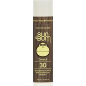 Sun Bum Lip Balm, Sunscreen, Coconut, Broad Spectrum SPF 30