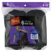 Hanes Socks, Cushion Low Cut, Men's, Black